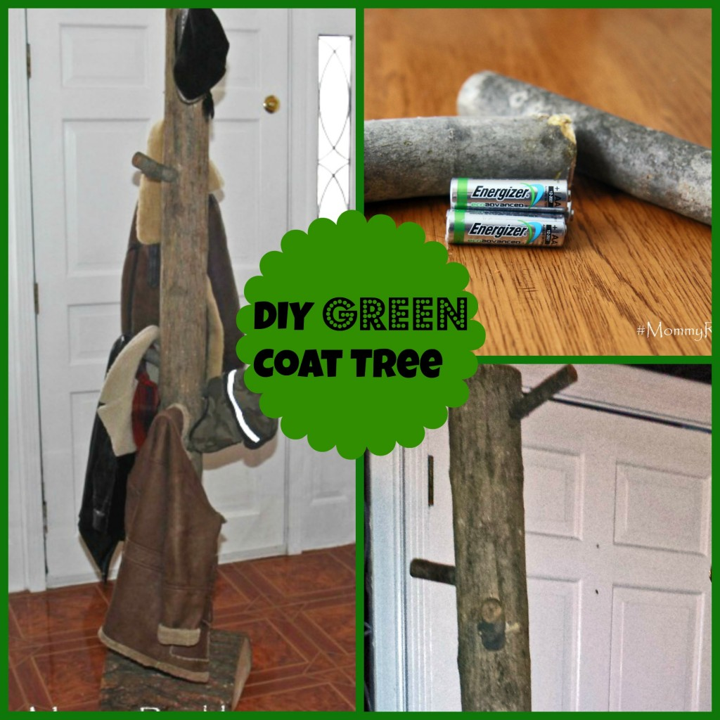 green coat tree collage