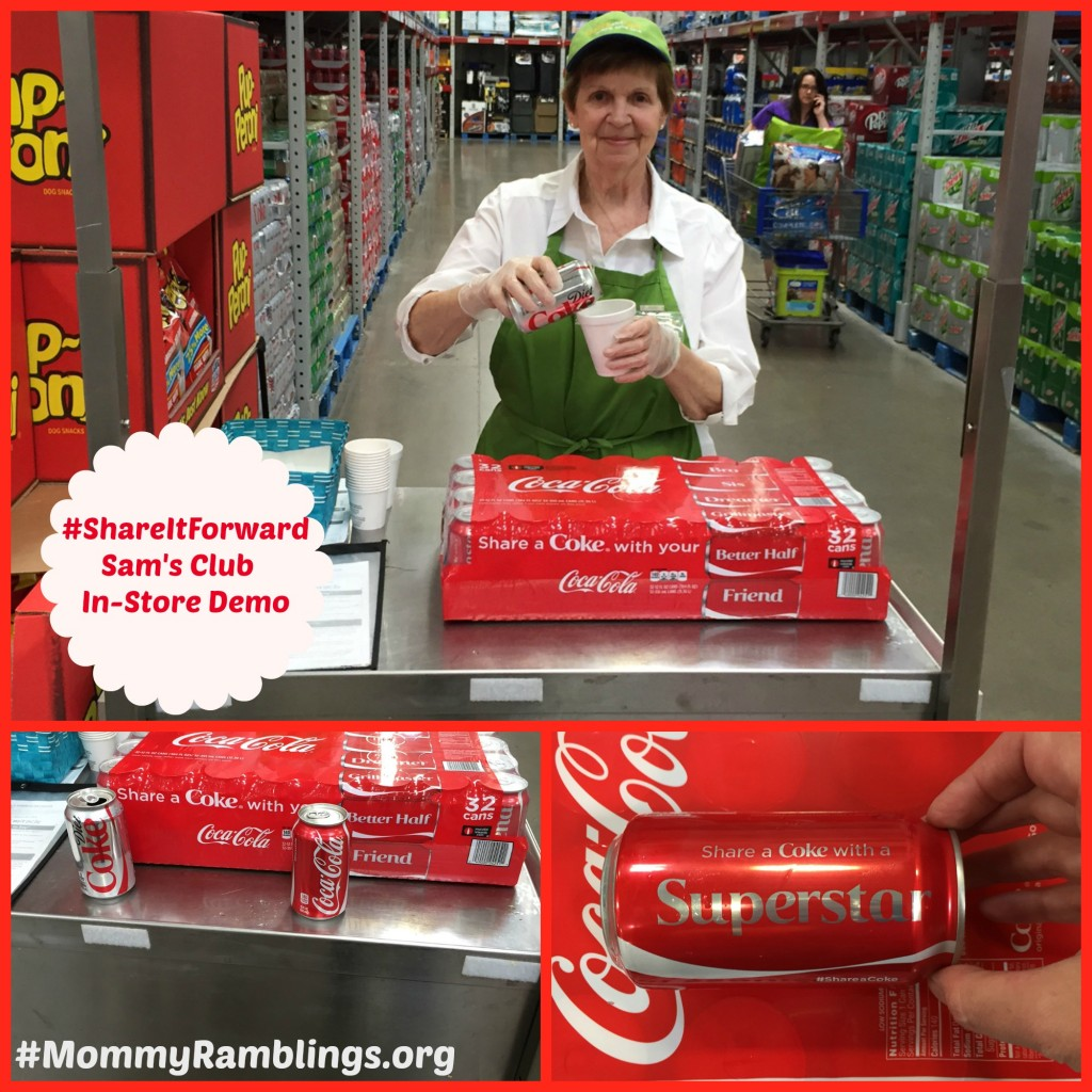#ShareItForward-Coke-Coca-Cola-Sams-Club-In-Store-Demo