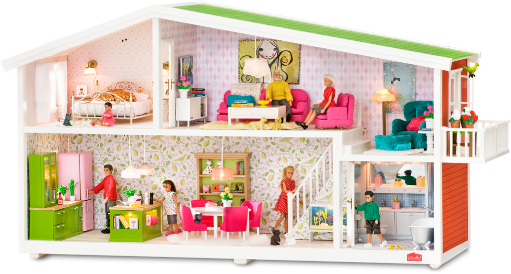 Lundby Smaland Living Room Playset Red