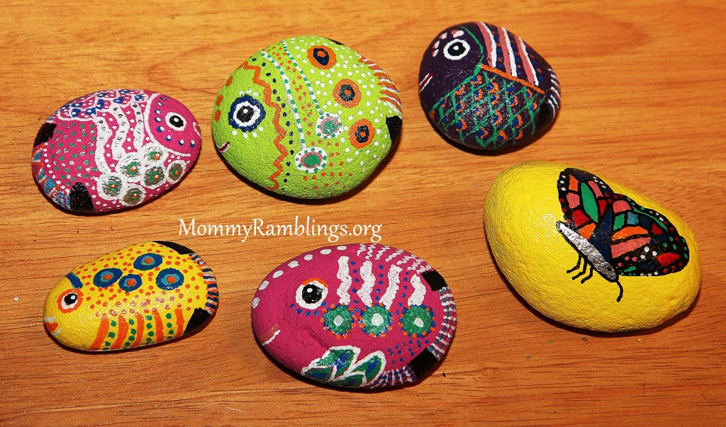 rock painting craft ideas river rock painting craft project ramblings 5339